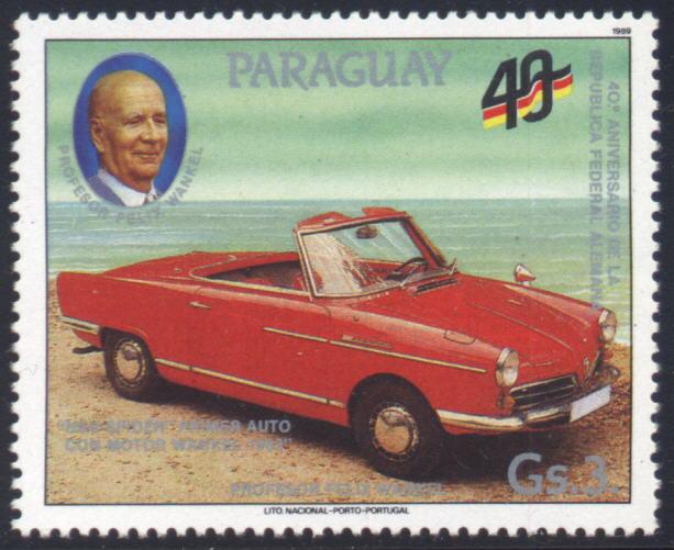 Audi Philately - Paraguay 1989 - 1963 NSU Spider