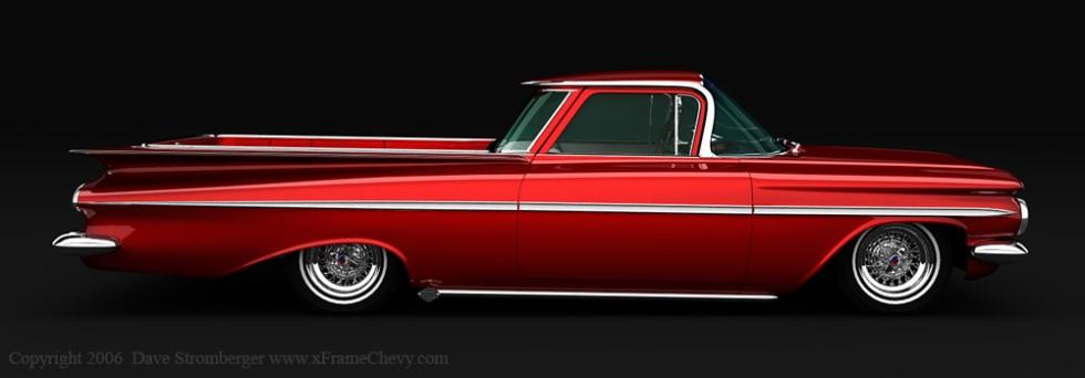 1959 El Camino red 1