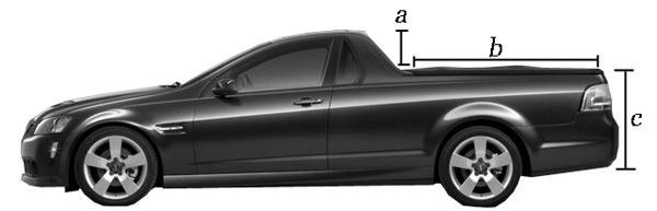 A: Pillar shape, size and design. B: Bed length in-proportion to the cab and nose. C: Bed Height and slope considerations.