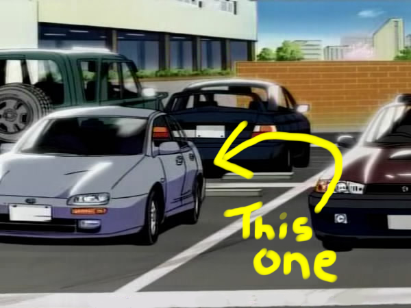 They actually had a lot of well drawn real cars in this series.